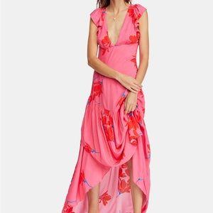 Free People Dresses - Free People She's A Waterfall Maxi Dress